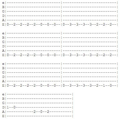 Simple guitar chords and