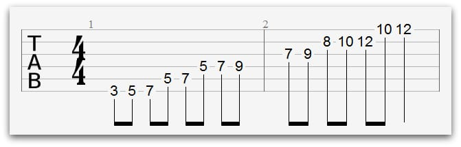 diagonal-pentatonic-pattern